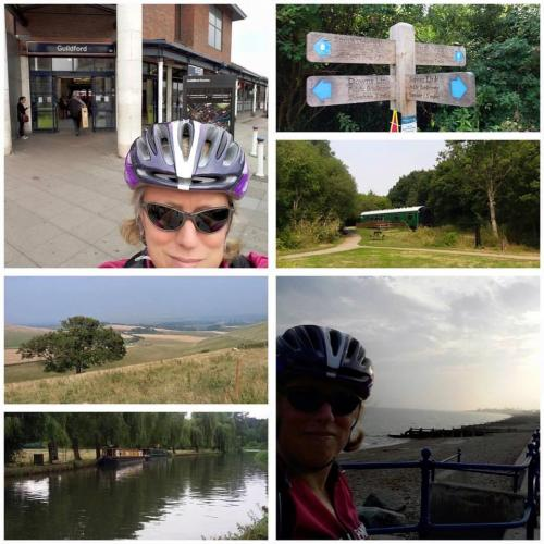 Michelle's cycle from Surrey to the sea