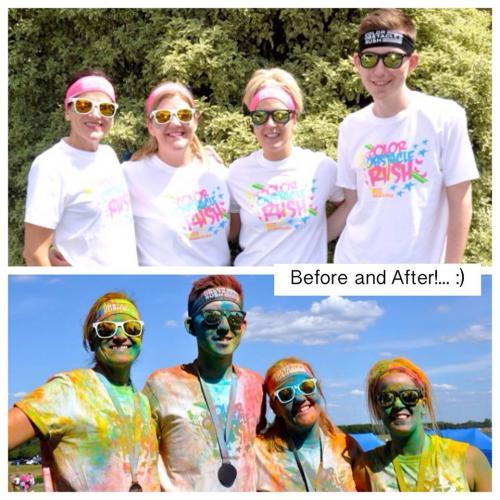 Cutts family Colour Rush